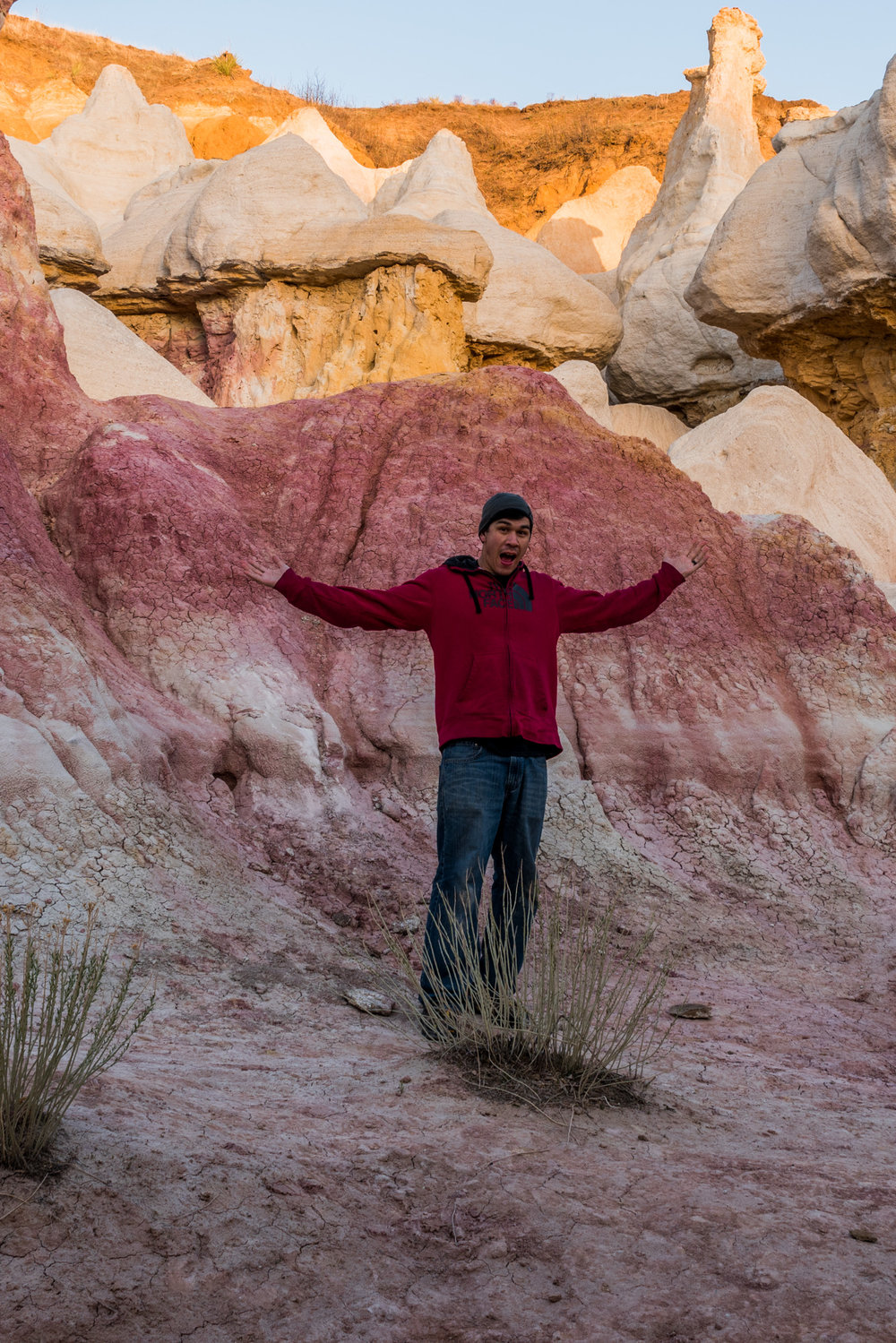 Me having fun at the Paint Mines posing for the camera.