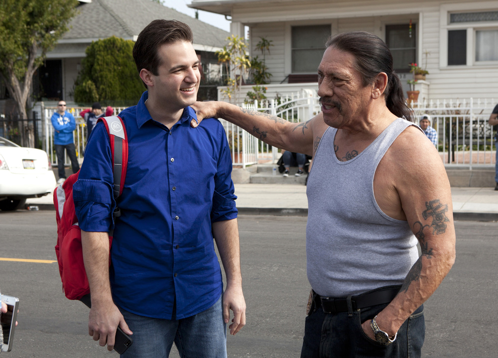 Chris on the set of  Bullet ( 2012) starring Danny Trejo. Chris oversaw production as Executive Producer.