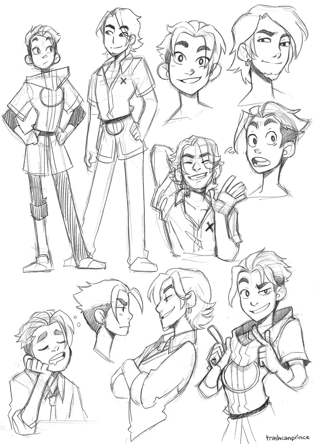 Flux Destiny character studies by Lauren Buttfield.