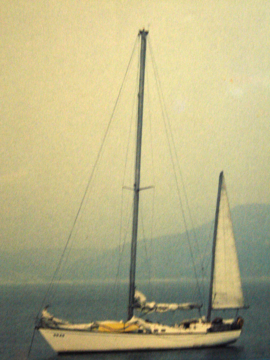 "An old photo of the yacht ""Cape North"""