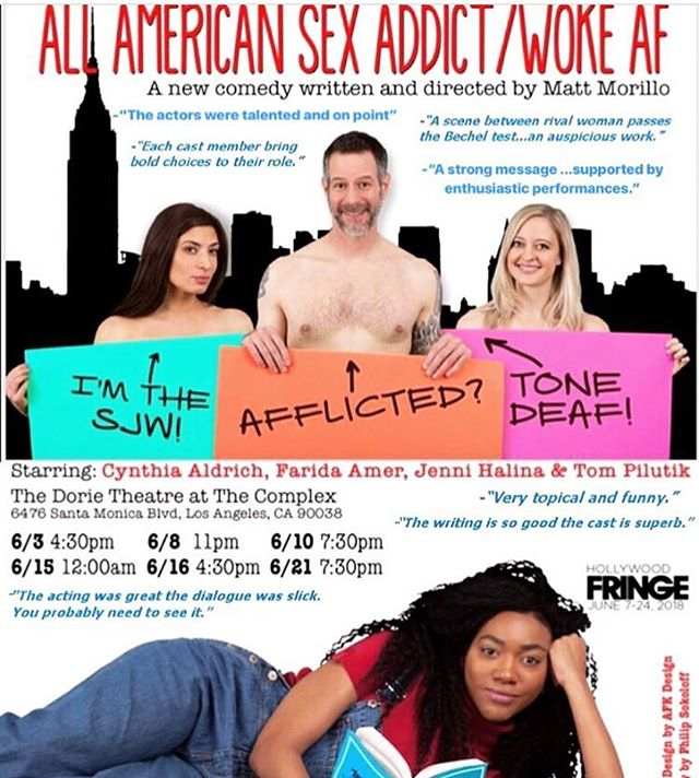 BALLOTS ARE UP! If you're a voter for the fringe awards, please consider us for fringe first, top of the fringe and best ensemble performance! #hff18#hollywoodfringe #fringeawards2018 #hollywoodfringefestival #allamericansexaddict #allamericansexaddictwokeAF #complexhollywood #complexhwood #jennihalina #tompilutik #cynthiaaldrich #faridaamer #mattmorillo