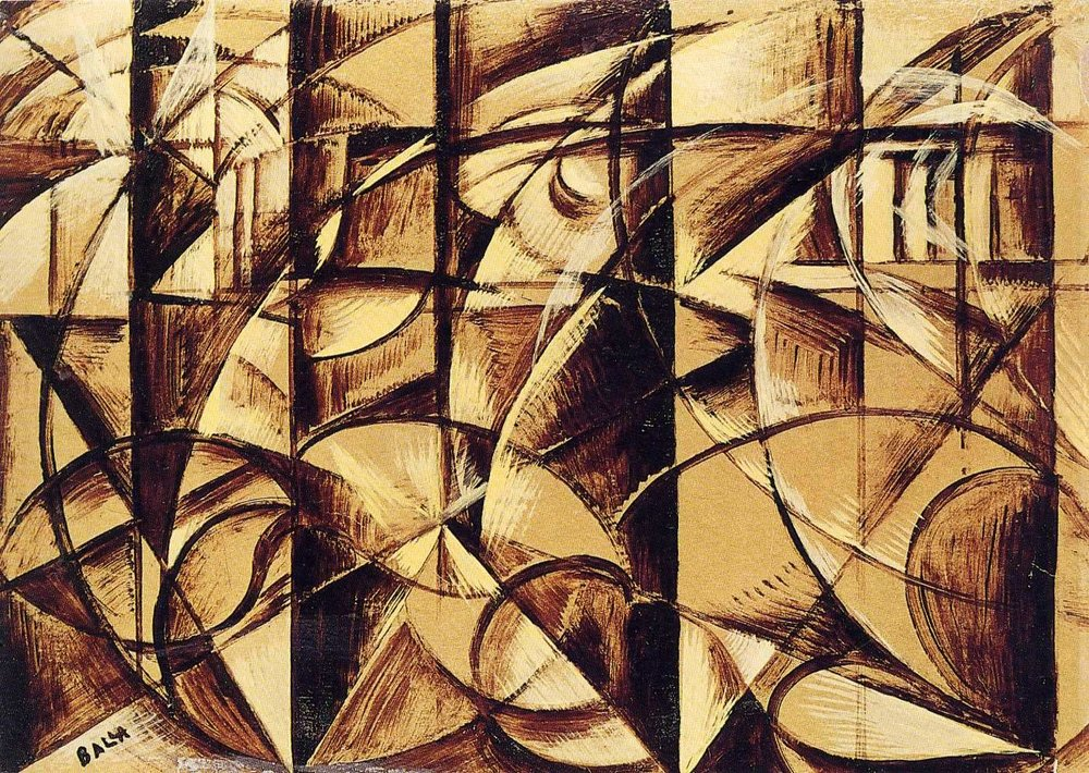 Giacomo Balla, 1913, The Speed of an Autumobile Luce.jpg