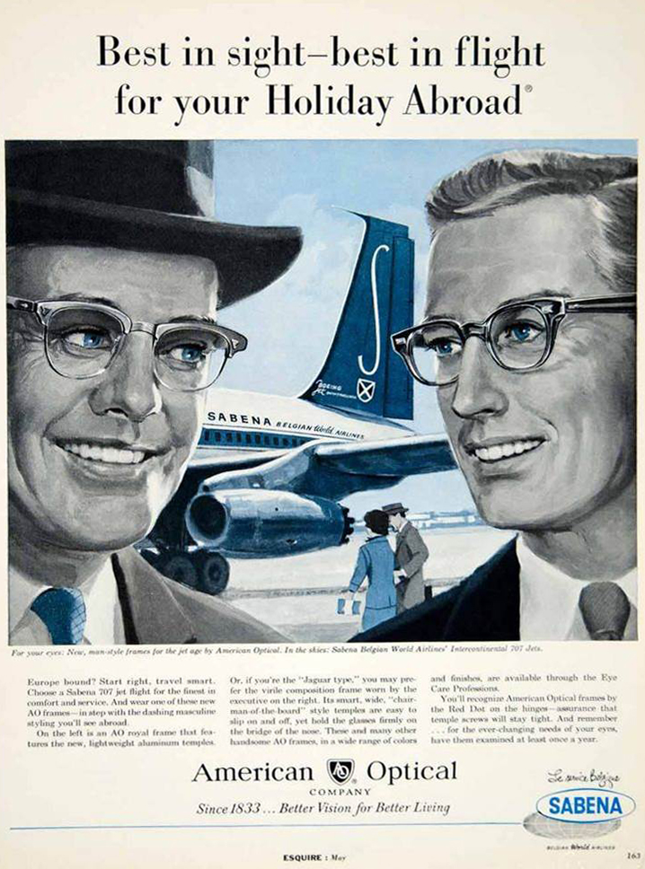 This commercial featured in Esquire magazine in 1960                 – aimed at the sophisticated holiday maker
