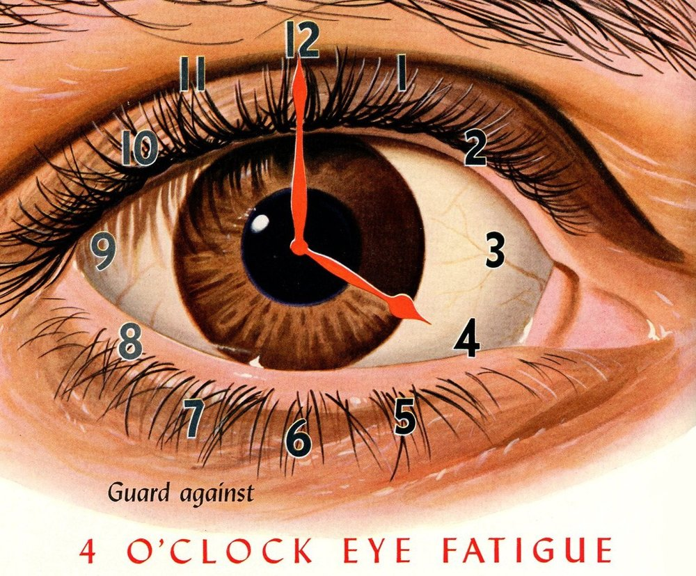 """Guard against the 4:00 eye fatigue -                                              the 1944 precursor to the EnergizeMe Lens"""