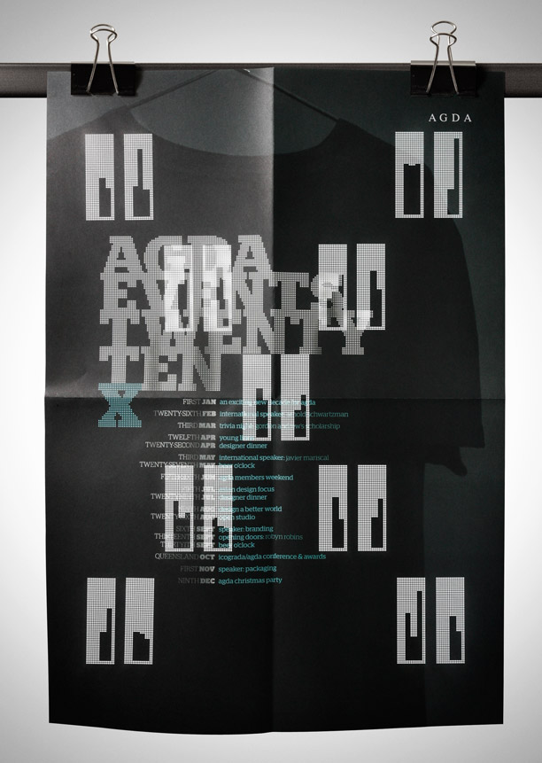 Perforated event poster - AGDA