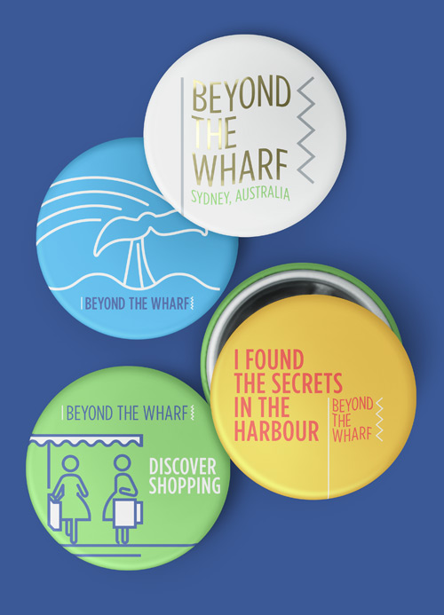 Beyond The Wharf Identity buttons