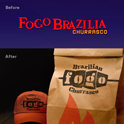 before after Fogo identity