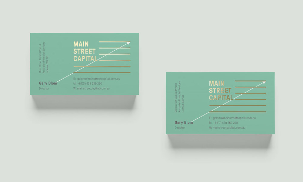 Main St. Capital business card