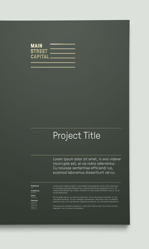 Main St. Capital Proposal Folders