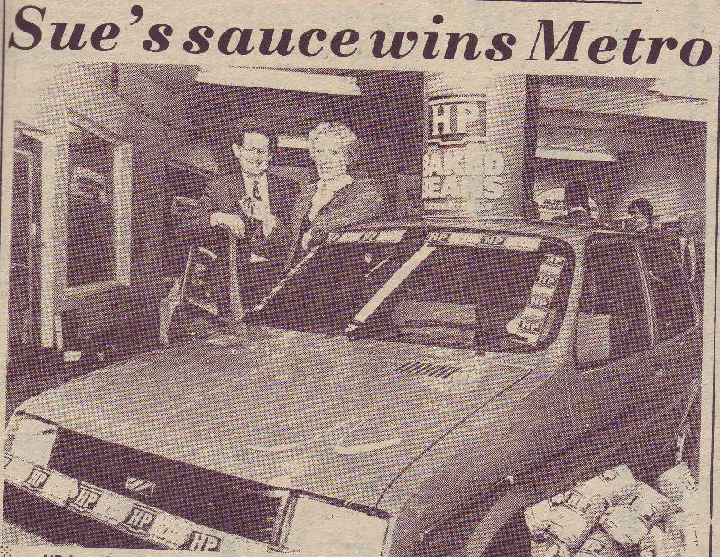 My parents on the occasion of winning a Metro from the Rugby Advertiser 28 April 1983