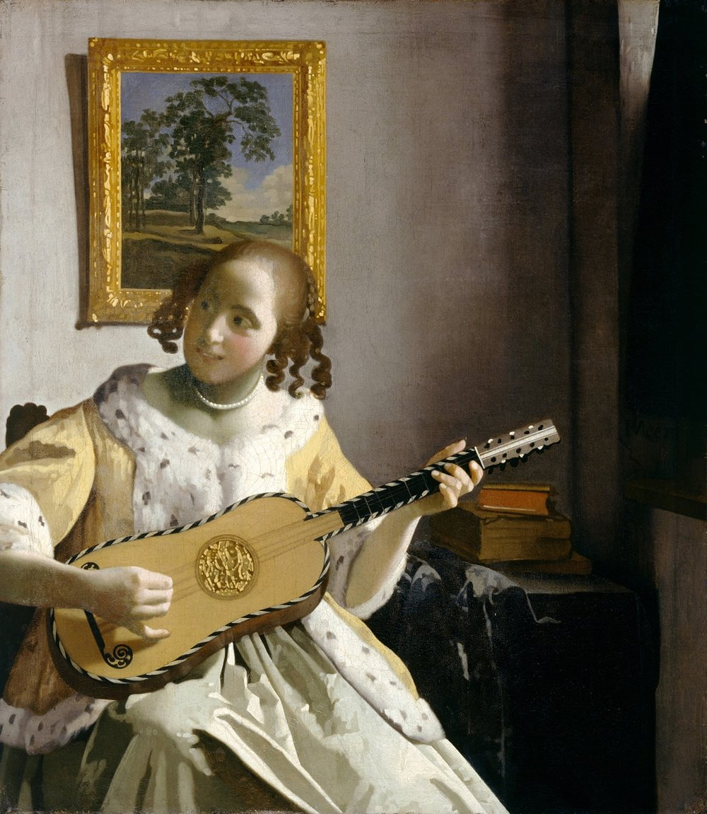 Girl with Guitar by Vermeer