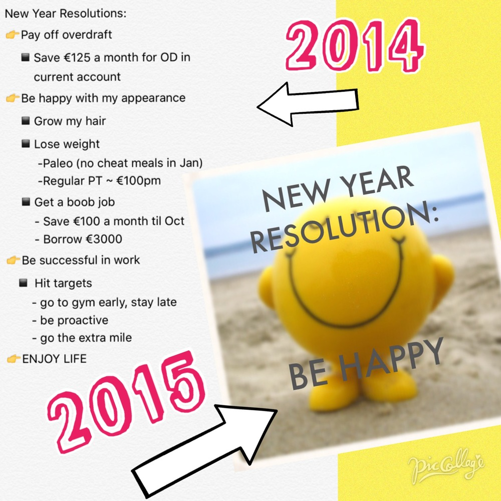 My new years resolutions for 2014 vs 2015 :)