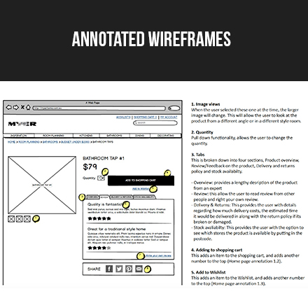 Annotated wireframes Select the image above to view the prototype.