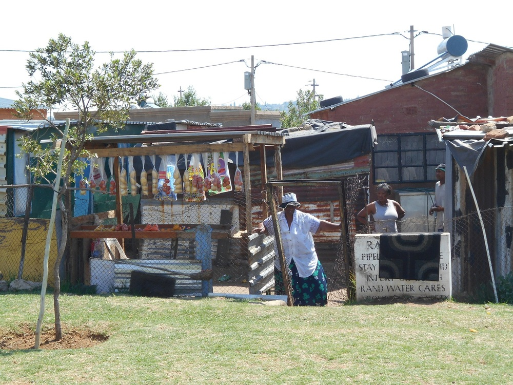 Vendor bordering the park