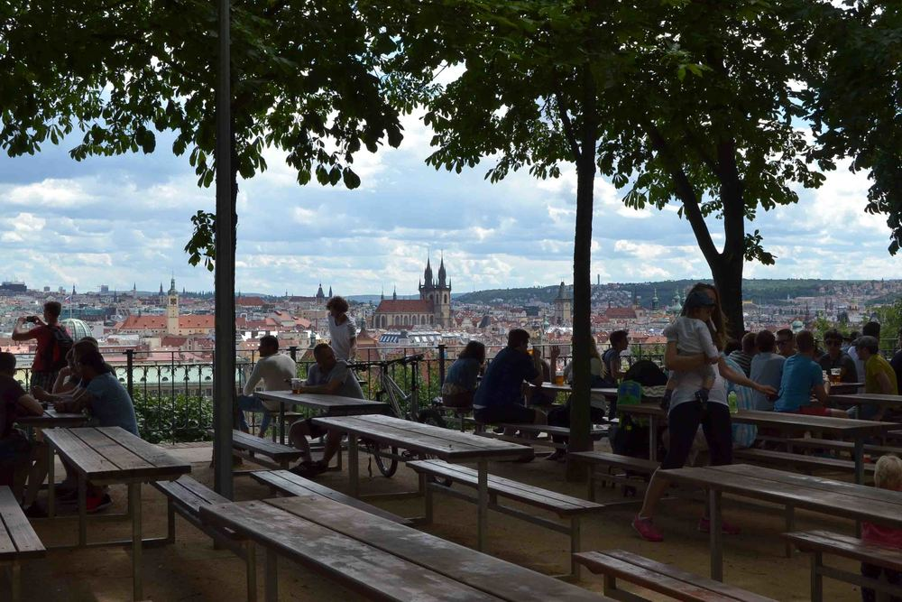 Beer Garden with Views over the Old City and Vltava River
