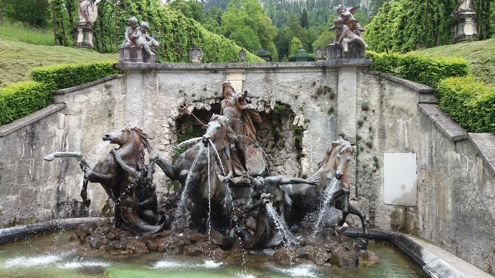 Neptune Sculpture Linderhof Palace