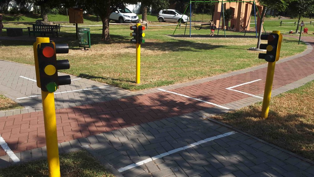 Bike Track with Traffic Lights for Kids