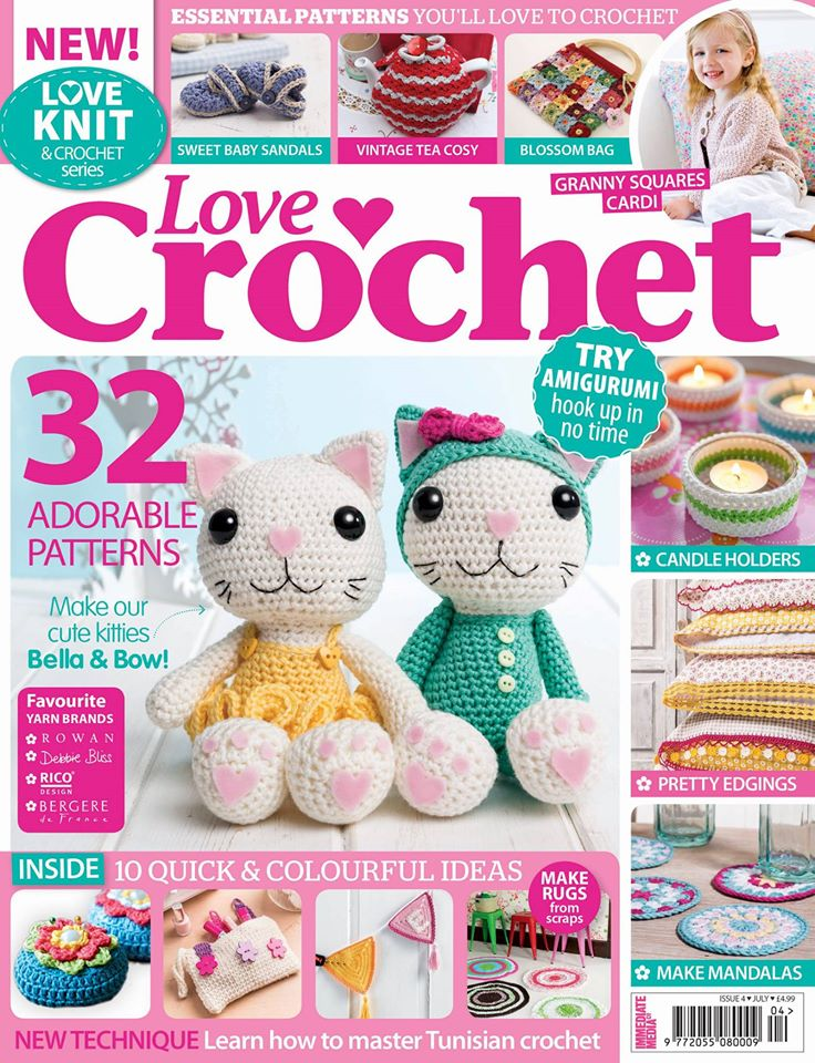 Love Crochet, Issue 08 - July 2014 | Emma Lamb