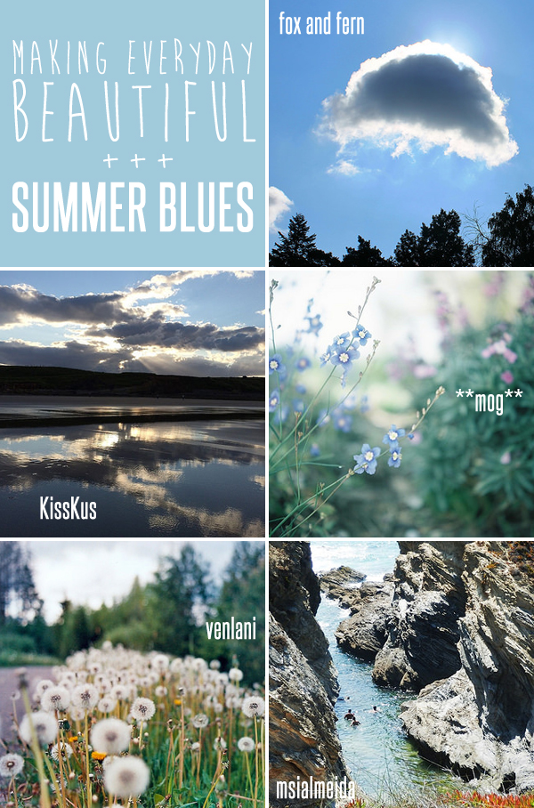 making everyday beautiful : summer blues | Emma Lamb