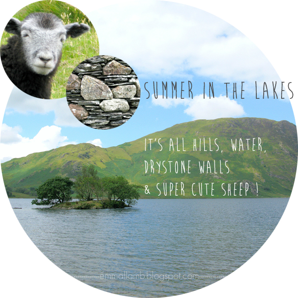 Summer in the Lakes - it's all hills, water, drystone walls and super cute sheep! | Emma Lamb