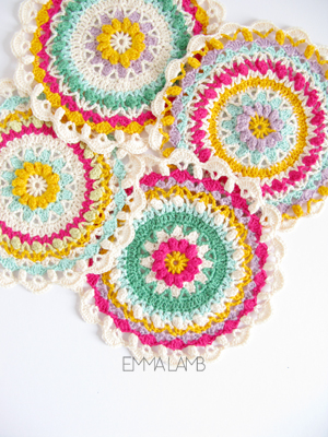 Spring Fling FLower Mandala by Emma Lamb