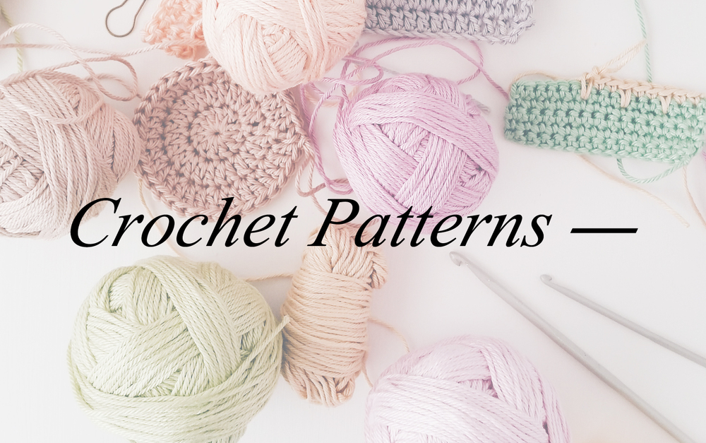 A collection of crochet patterns by Emma Lamb available to purchase as PDFs and ebooks.
