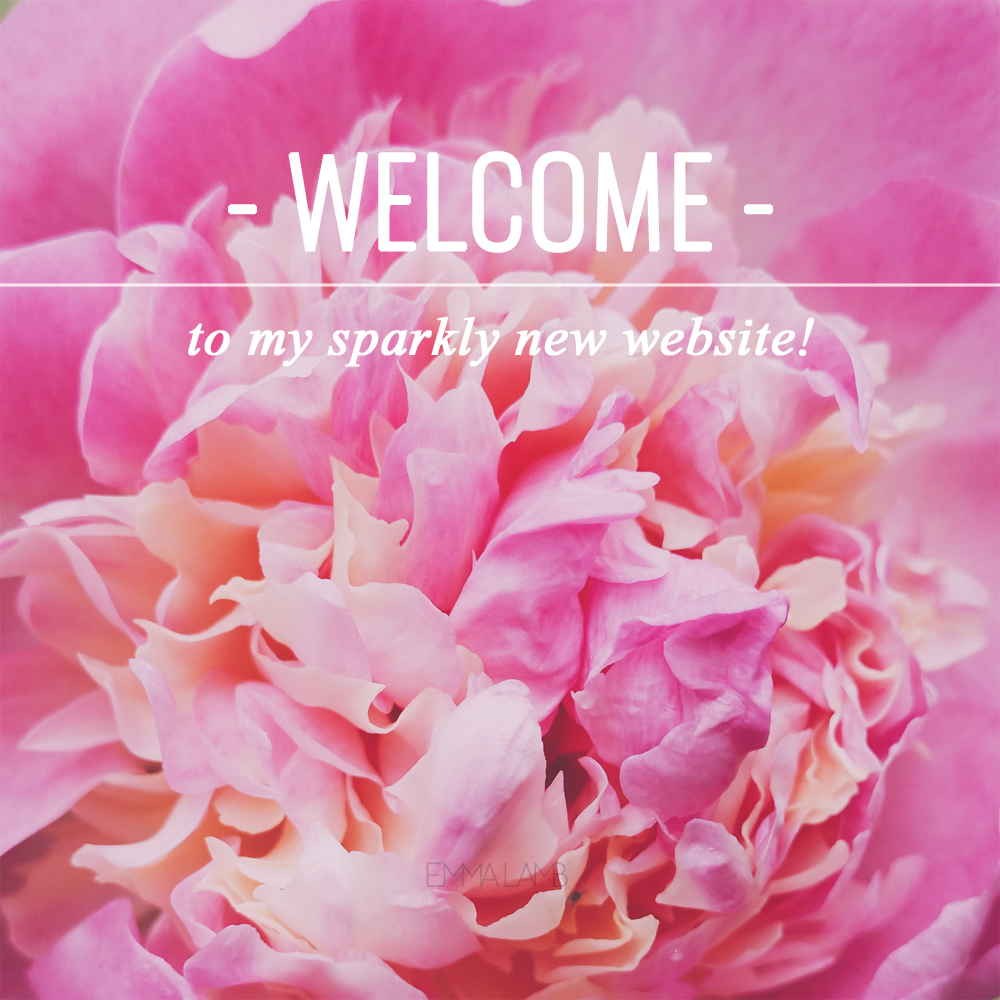 Welcome to my sparkly new website! | Photo by Emma Lamb