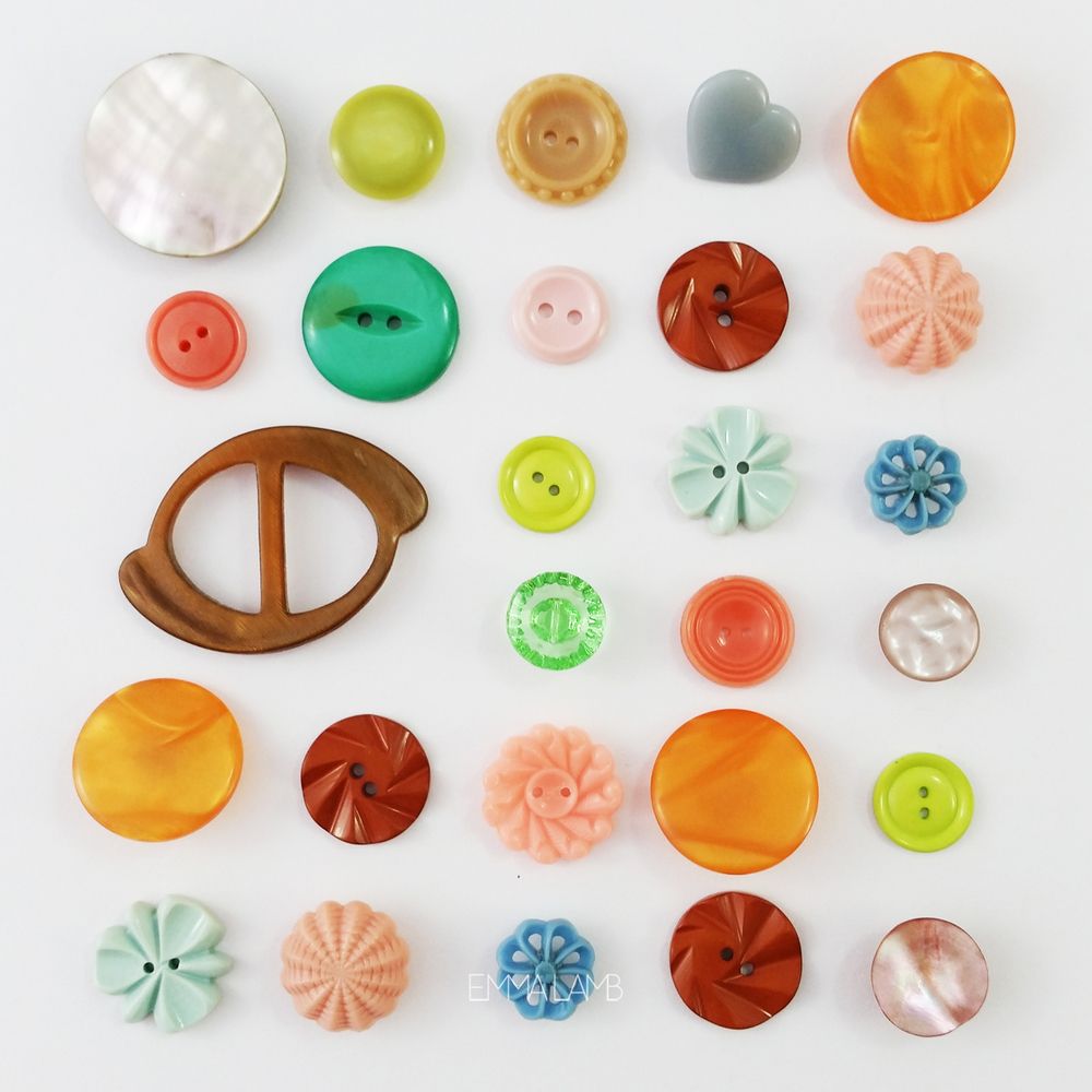 Colour Palette <> Vintage Buttons | Emma Lamb