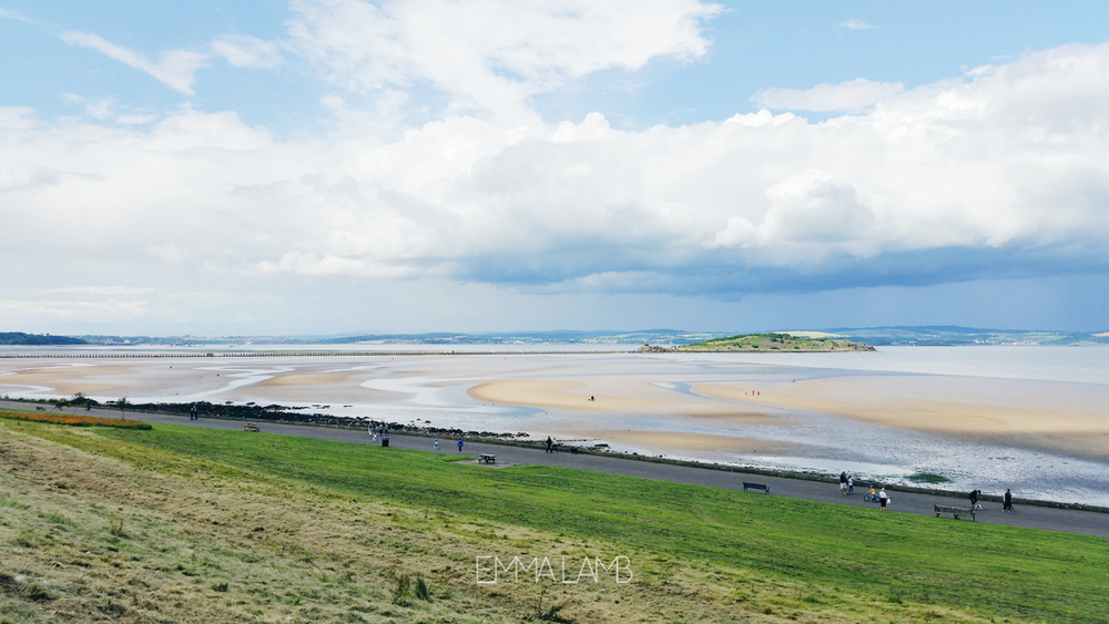 Low Tide at Cramond Beach, Edinburgh | Emma Lamb