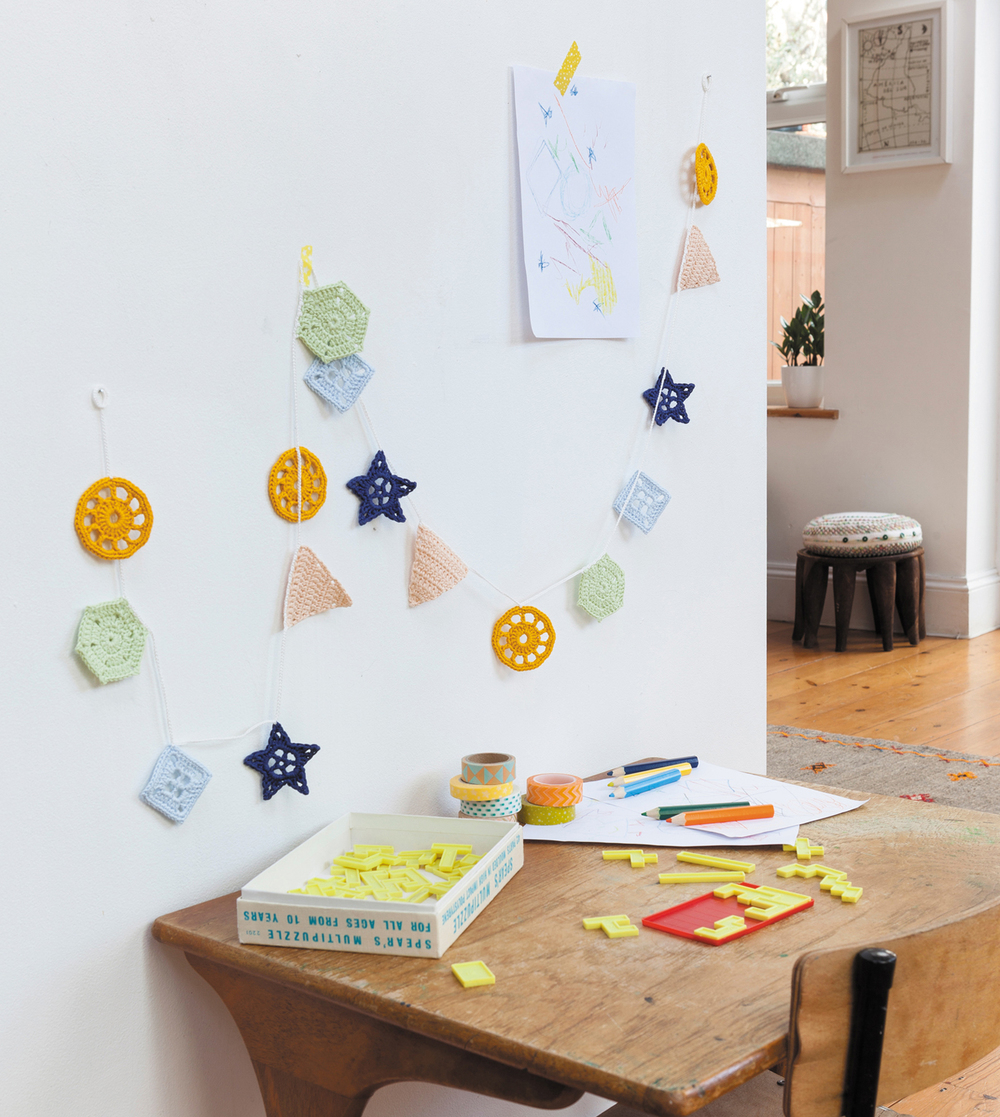 Geometry Garland from Crochet Home by Emma Lamb | Crochet designs and styling by Emma Lamb / Photography by Jason M Jenkins