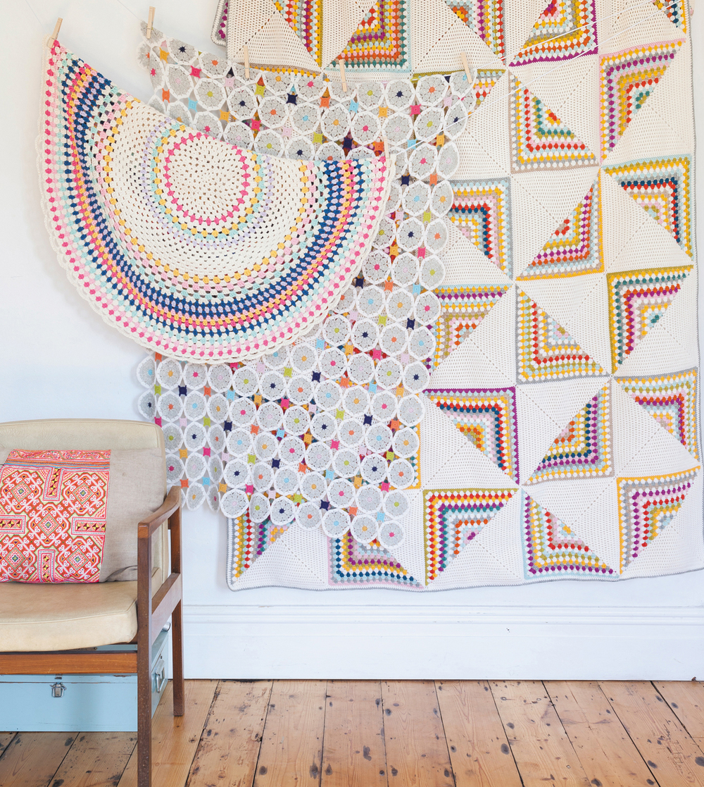 Blankets from Crochet Home by Emma Lamb | Crochet designs and styling by Emma Lamb / Photography by Jason M Jenkins