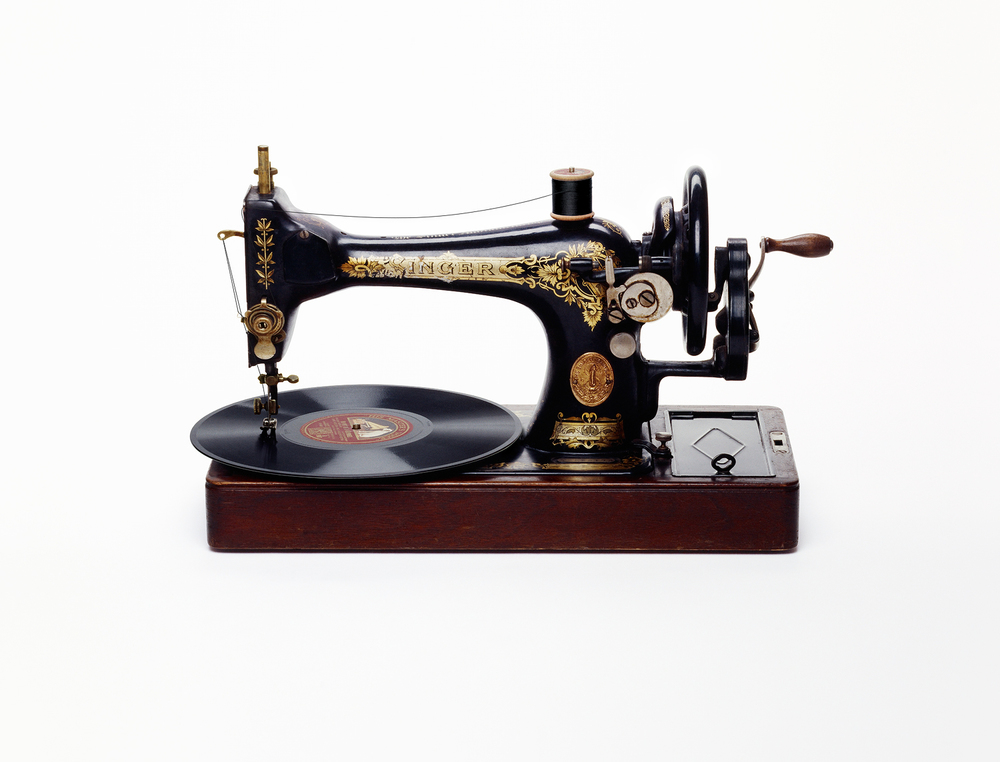 Sewing Machine Record Player