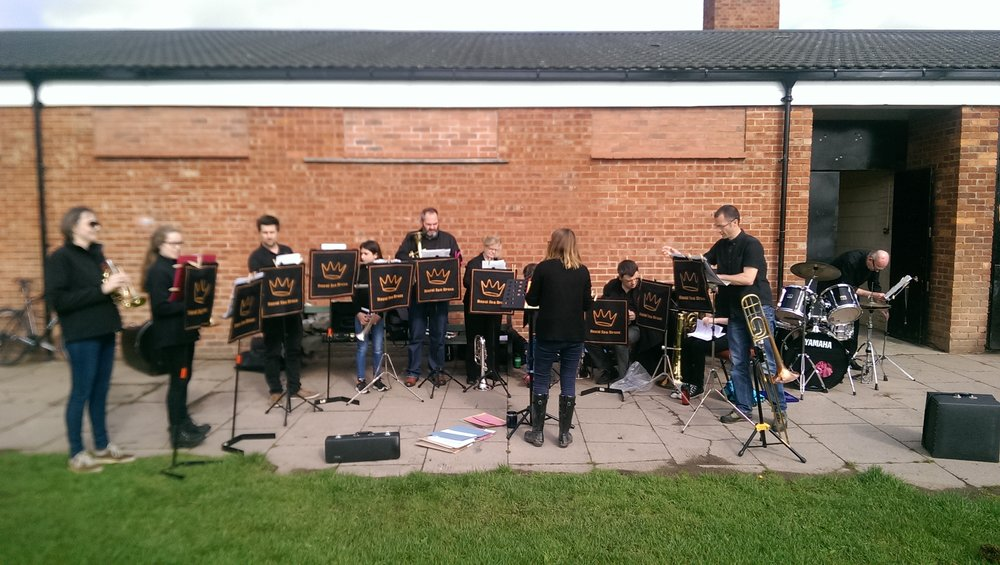 BB ensemble at Leamington Parkrun