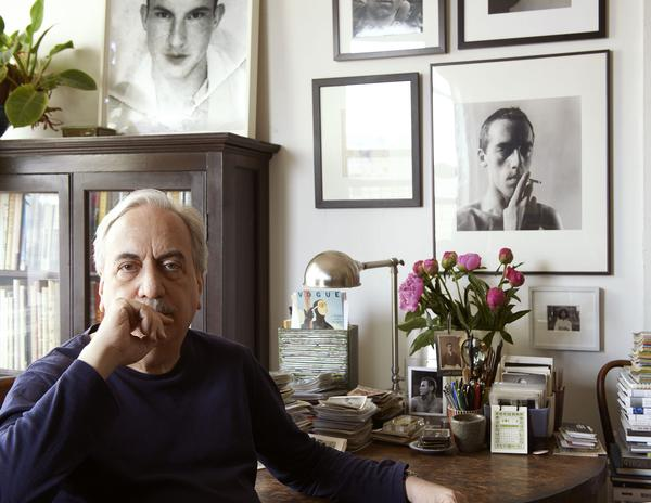 Vince Aletti in his East Village apartment, 2014