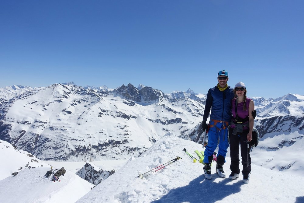 Haute Route Ski Tour - Chamonix to Zermatt on skisHazel and Luke left Chamonix on a six week back-country ski touring journey through the high mountains that connect the mountaineering capitals of Chamonix and Zermatt, the infamous