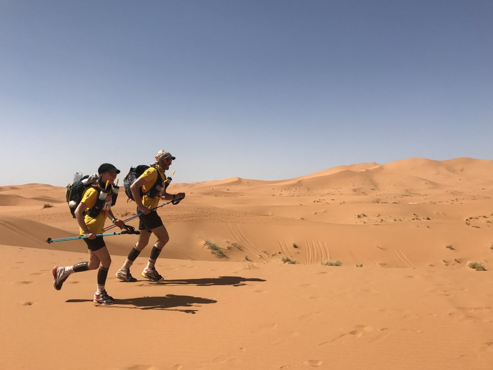 Marathon des Sables - 156mi unsupported run across the Sahara DesertIn 2017, Luke and Hazel took on 'the toughest footrace on earth