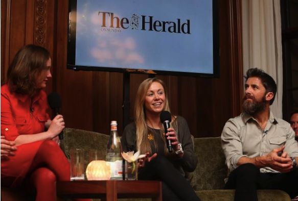 Hazel sharing stories at the Conversations with Cool - Going to Extremes event, hosted by the Herald on Sunday.  (image credit: Gordon Terris/Herald&Times Group)