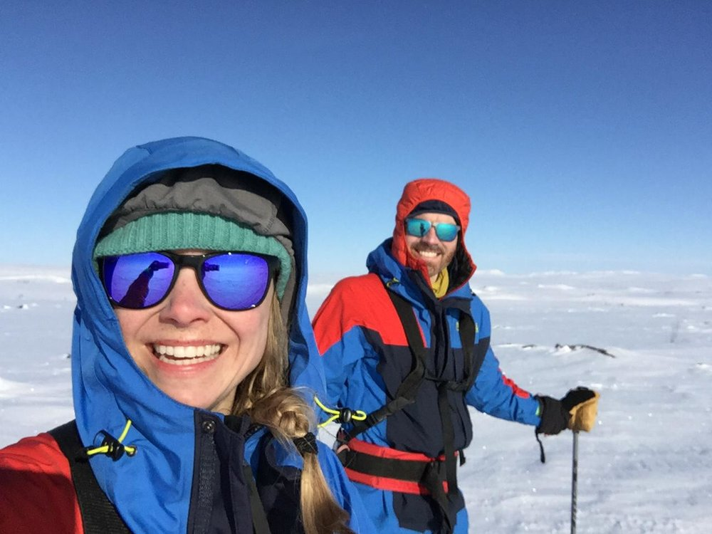 Skiing across the Finnmark Plateau