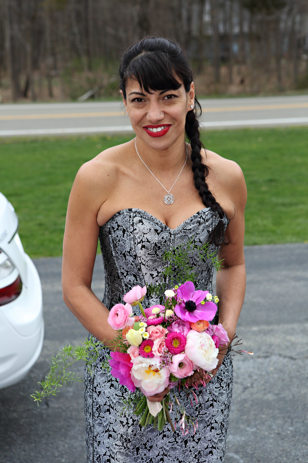 The stunning Maribel, Liz's Matron of Honor. Another co-worker, but more than that, a friend.