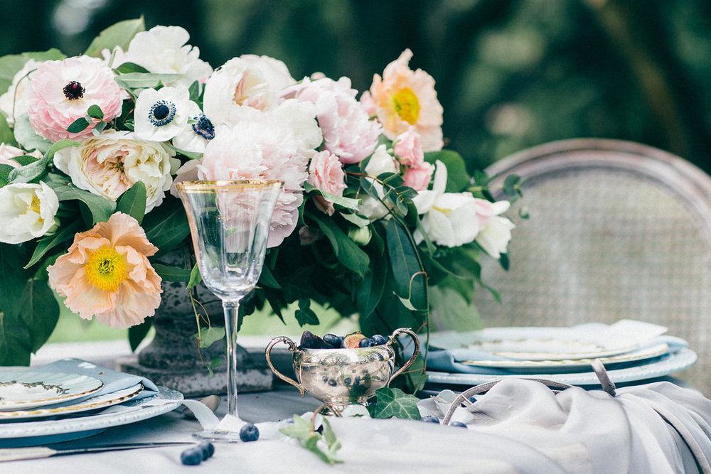 Peony and Anemone Wedding Centerpiece