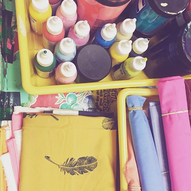 Magic happened at this Block printing on Textiles class. I was so fascinated with everyone's prints!