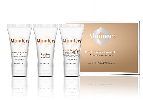 Post Procedure Prescription Care - All Alumier MD facial treatments include 5 days of Post-treatment skin care products that will help to minimize complications, heal and soothe the skin and then maintain the results.