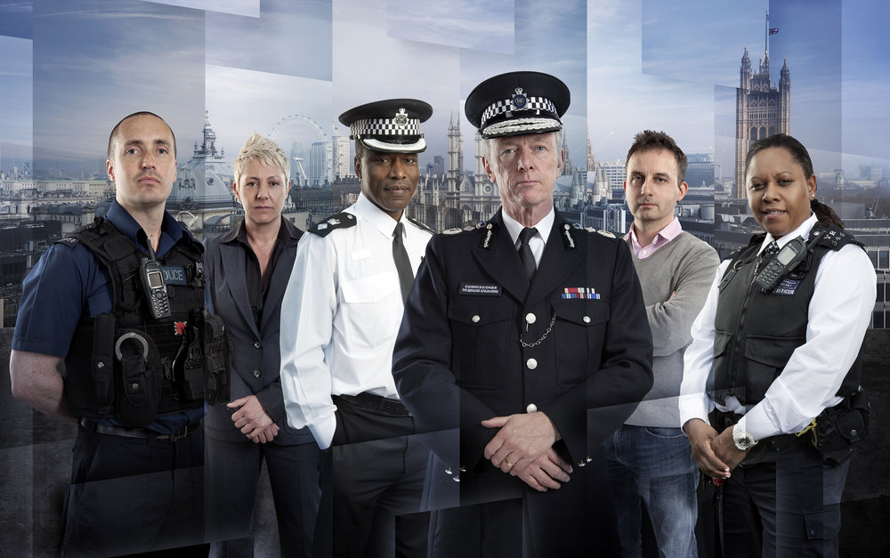 Publicity campaign for the TV show The Met: Policing London, for the BBC