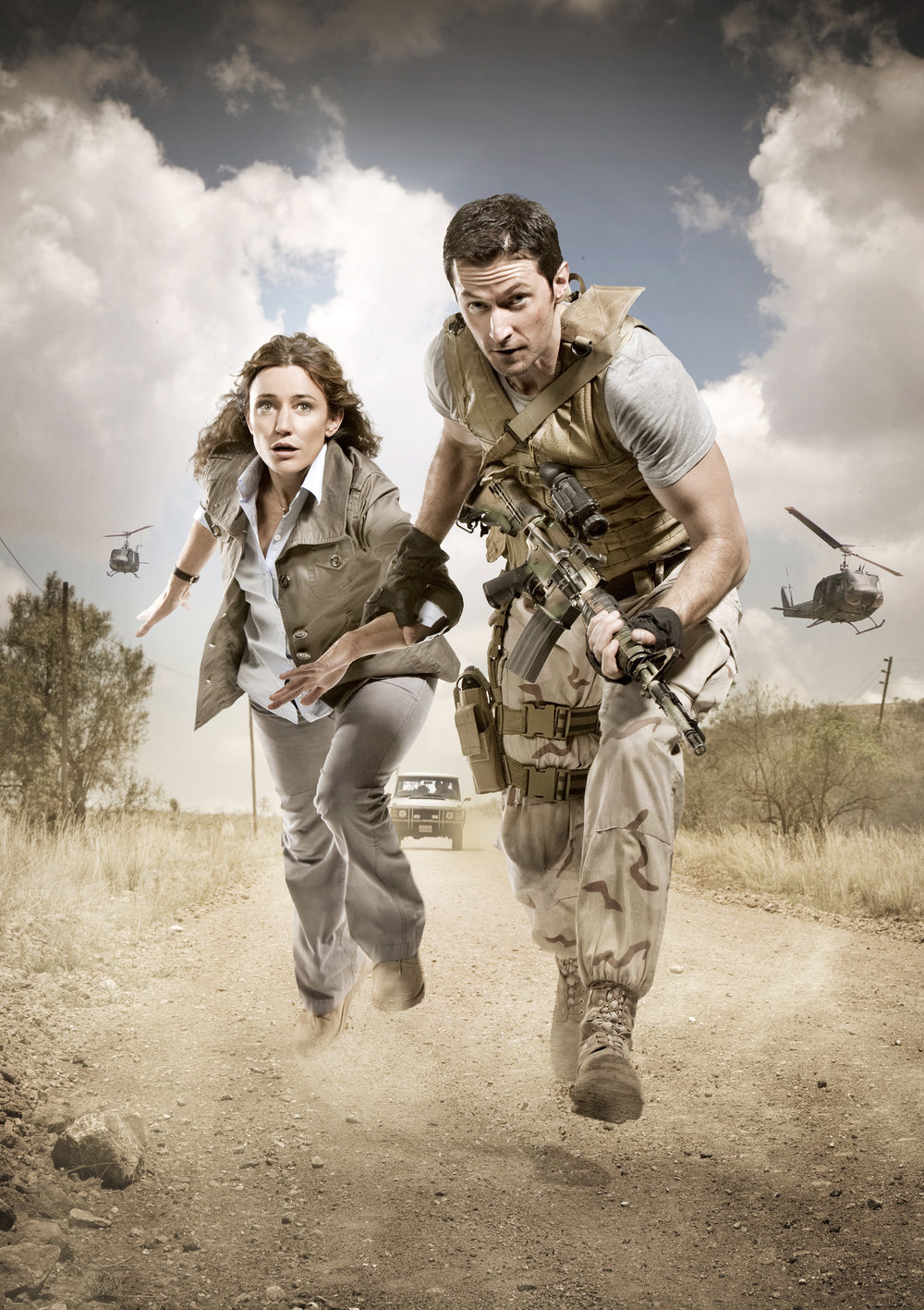 Publicity campaign for the TV show Strike Back, for Sky
