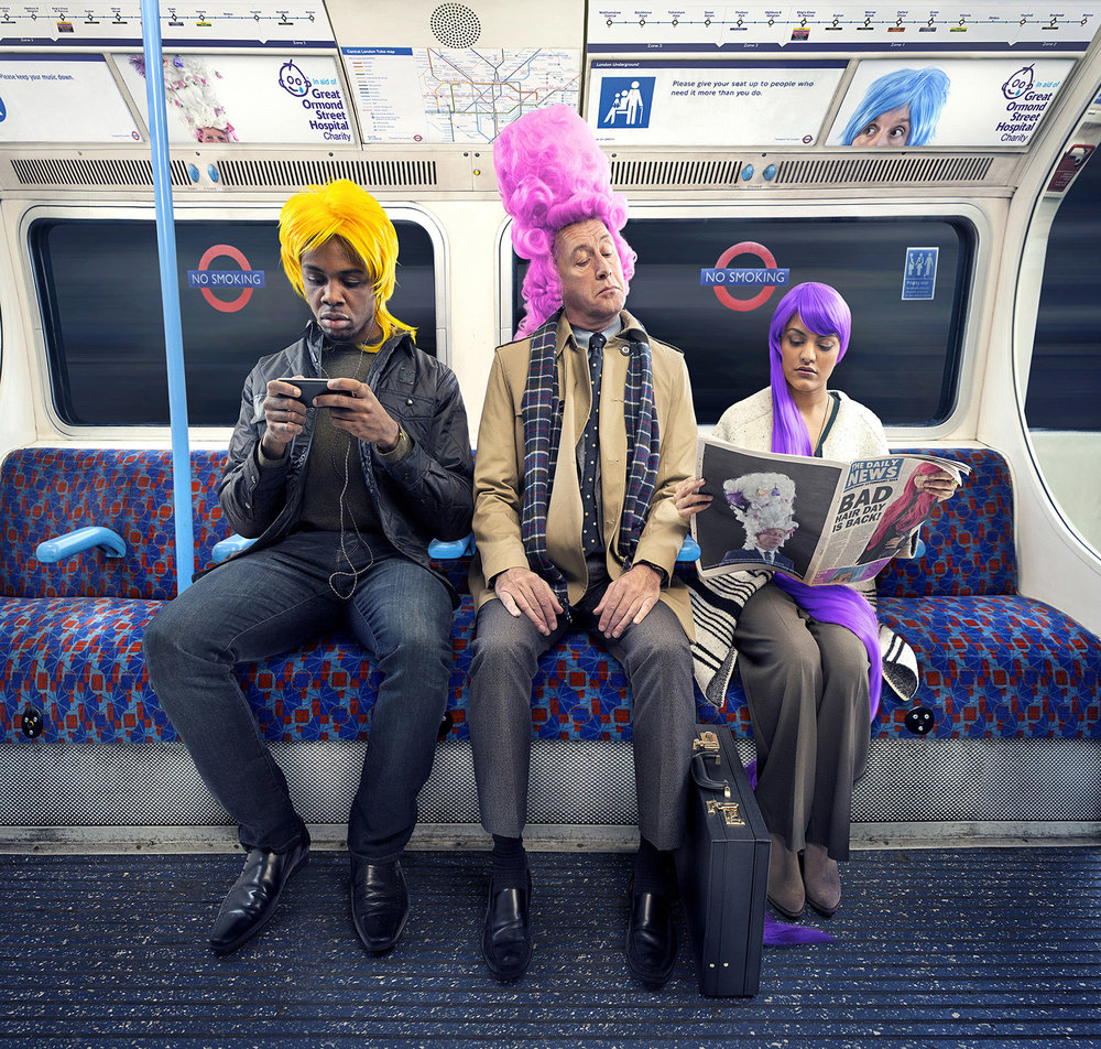 Advertising campaign for the Great Ormond Street Hospital Charity fundraising event Bad Hair Day