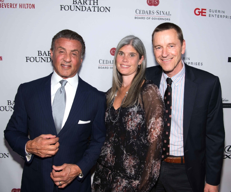Heart of Hollywood honoree Sylvester Stallone, Shana Svendsen and Clive Svendsen