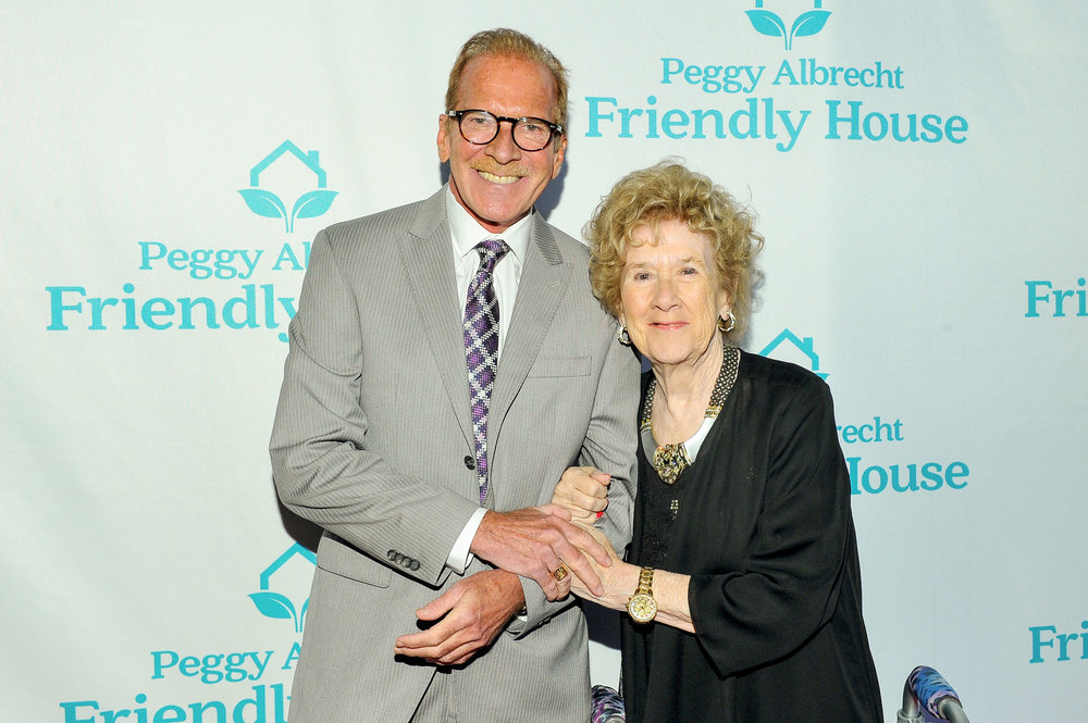 Pat O'Brien with Peggy Albrecht, Executive Director of Friendly House