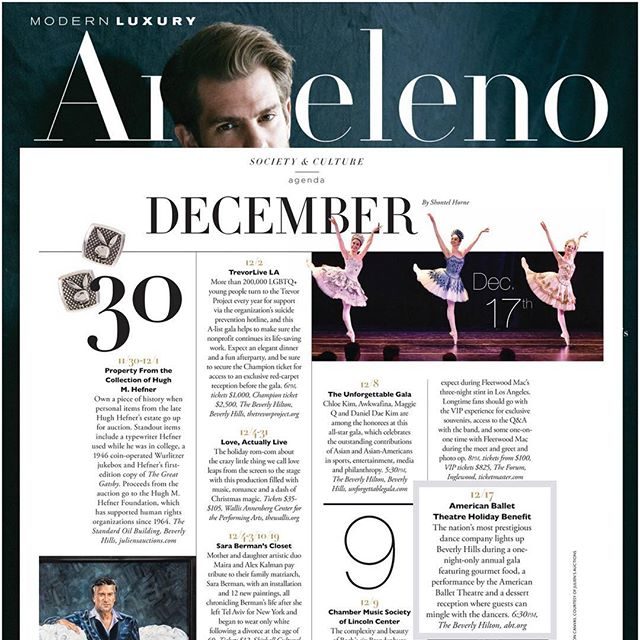 @abtofficial is coming to #losangeles for their annual Holiday Benefit! They are coming to sleigh 🛷 their festive ❄️ performance on Dec 17 at the @beverlyhilton. See this listing in @angelenomagazine and come see the ballet!