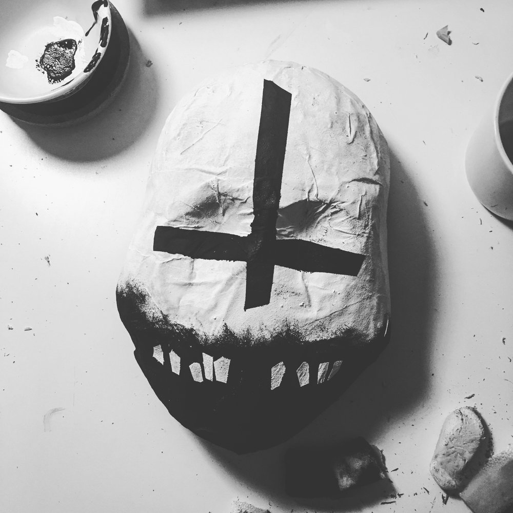 Projects for days... Including this mask I'm making in anticipation, and celebration, of the 10th anniversary of The Black Parade.