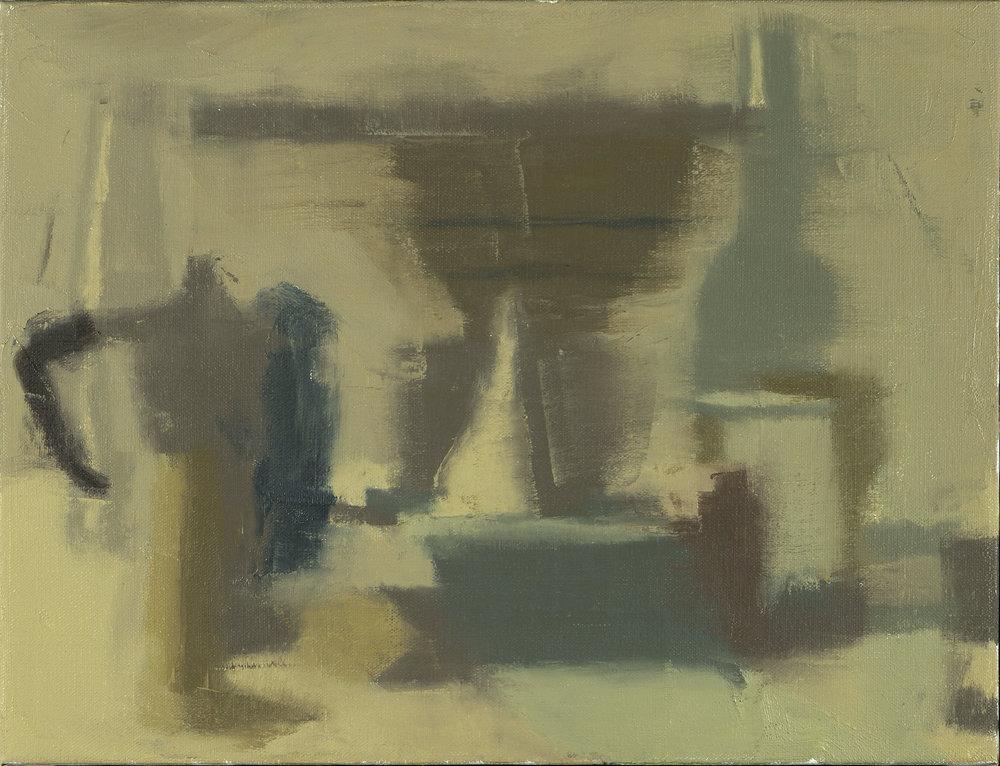 """""""Still Life Composition #3,"""" 2014, oil on linen 13 x 17"""".jpg"""